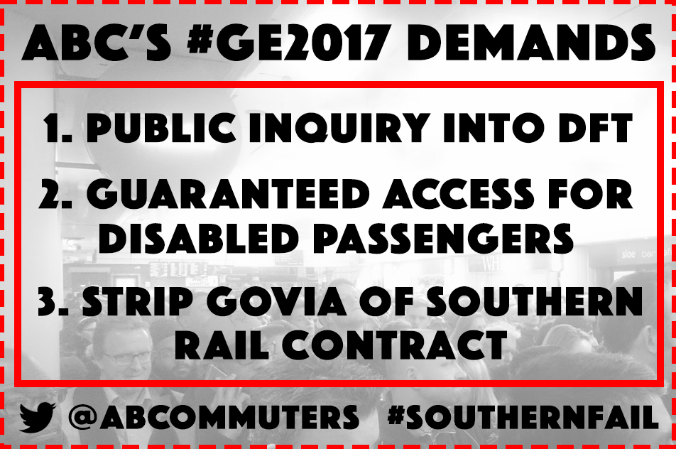 #SouthernFail election demands from the Association of British Commuters